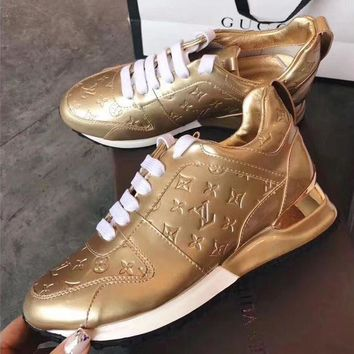 LV Louis Vuitton Trending Women Leisure Sneakers Sport Shoes Gold I