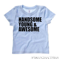 NEW* Handsome Young & Awesome Light Blue Toddler Boy Shirt 2T 3T