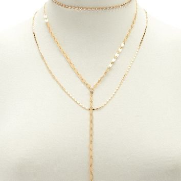 Chain-Link Necklace Set