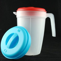 plastic water pitcher 2 lt- assorted lid colors Case of 144