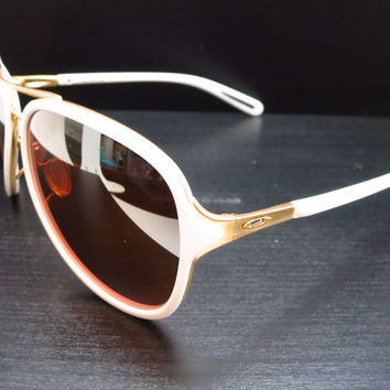 Oakley Kickback OO4102-06 Satin Polished Gold / White Sunglasses