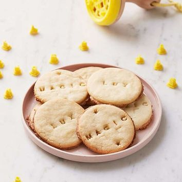 Letters & Numbers Wooden Cookie Press Stamp