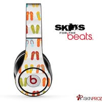 Vintage Flip Flops Skin For The Beats by Dre Studio, Solo, Pro, Mix-R or Wireless