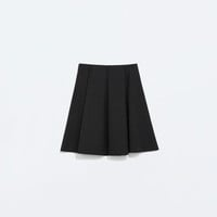 Mini skirt with flounce
