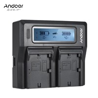 Andoer LP-E6 LP-E6N Dual Channel Digital Camera Battery Charger w/ LCD for Canon EOS 5DII 5DIII 5DS 5DSR 6D 7DII 60D 80D 70D