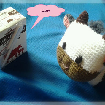 Free shipping Little cow amigurumi made to order by thujashop