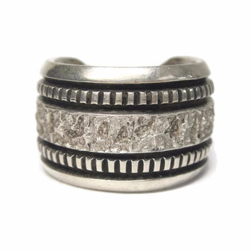 Mens Vintage Navajo Sterling Band Ring Philbert Begay Size 9