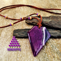 Native American arrowhead necklace, boho hippie jewlery