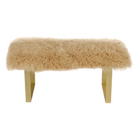 Le-Coterie Curly BeBe Bench - Gold