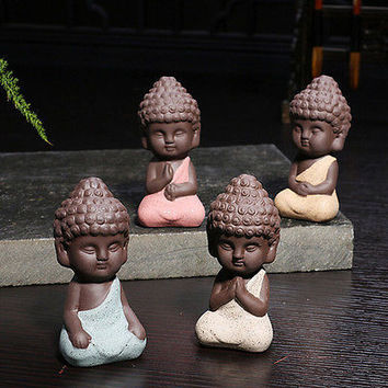 Cute mini buddha statue monk figurine tathagata India Yoga Mandala Sculptures HU