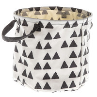 Black Triangle Print Collapsible Bin | Hobby Lobby | 1123231