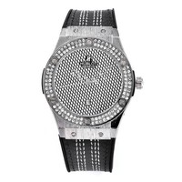 Hublot men and women fashion trendy quartz watch F Black