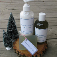 Bath gift set | Holiday Stress Relief Set | Spa Gift Set | Natural Soap | Shea Butter Lotion | Bath Soak |