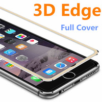 3D Aluminum alloy Tempered Glass Case Coque for iphone 6 6s / 7 Plus Full Screen Protector Film Fundas For 5 5s se 5C Case