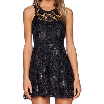Lovers + Friends Amore Fit & Flare Dress in Black