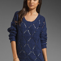 American Vintage Big Sky Country Round Neck Long Sleeve Pullover in Ink from REVOLVEclothing.com