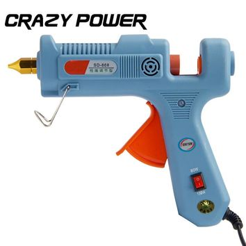 Crazy Power 80W/150W Hot Melt Glue Gun Blue Heat Temperature Tool Industrial Glue Guns Thermo Gluegun Repair Heat tools  EU Plug
