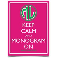 Marley Lilly Keep Calm & Monogram On Promotional Sticker | Marley Lilly
