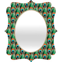 Belle13 Peacock Eye Pattern Quatrefoil Mirror