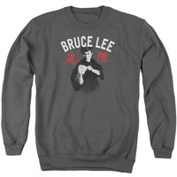 Bruce Lee Ready Charcoal Crewneck Sweatshirt