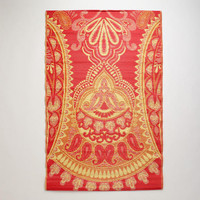 Red and Yellow Antigua Paisley Rio Floor Mats