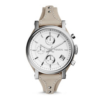 Original Boyfriend Chronograph Beige Leather Watch