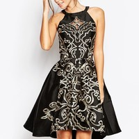 Chi Chi London Full Midi Prom Dress With Embroidery And Cutwork