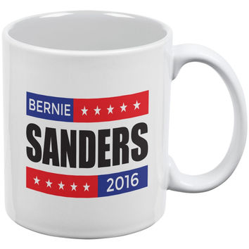 Election 2016 Bernie Sanders Stacked White All Over Coffee Mug