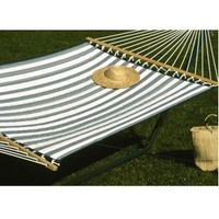 Castaway Q8205 Large Quilted Hammock - green/white