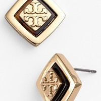 Women's Tory Burch 'McCoy' Logo Stud Earrings