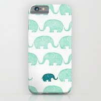 elephant love. iPhone & iPod Case by Pink Berry Patterns
