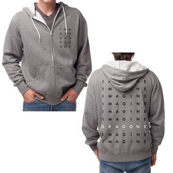 Imagine Dragons Stacked Logo Zip Hoodie | Imagine Dragons