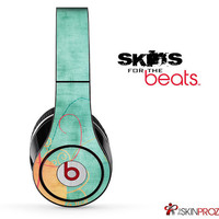 Vintage Orange and Green Skin For The Beats by Dre Studio, Solo, Pro, Mix-R or Wireless