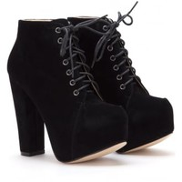 Synthetic Suede Ankle Boot | Attitude Clothing