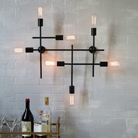 Industrial Grid Wall Sconce