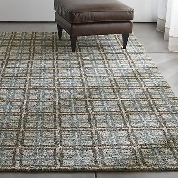 Elias Sky Blue Wool Rug