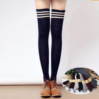 Taller Girls! 8 Colors Stripes Thigh High Long Socks SP153727
