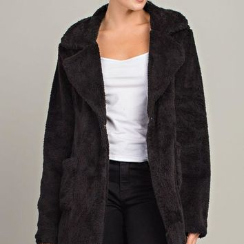 Bentley Faux Fur Long Sleeve Jacket