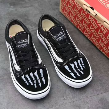 """VANS"" Unisex Classic Casual Fashion Stripe Bone Low Help Plate Shoes Couple Skateboard Shoes Sneakers"