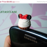 SALE Mickey Mouse Cupcake Phone Plug . Phone Charm . Earphone Plug . Dust Plug , Ear Plugs For iPhone , Smart Phone , iPad