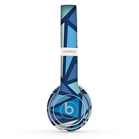 The Large Vector Shards of Blue Skin Set for the Beats by Dre Solo 2 Wireless Headphones