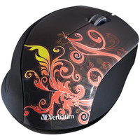 Verbatim Wireless Optical Mouse (burnt Orange)
