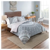 Gray Medallion Mira Reversible Comforter Set - Vue®