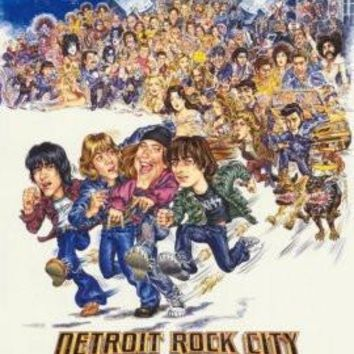 Detroit Rock City poster Metal Sign Wall Art 8in x 12in