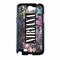 Nirvana Logo Floral Flower Design Samsung Galaxy Note 2 Case