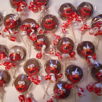 12 Sesame Street Elmo Chocolate Oreo Cookie Pops Lollipops Sucker Birthday gift Party Favor Kids
