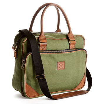 Vanguard Briefcase, Green, Briefcases
