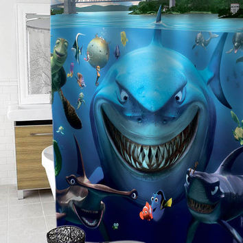 Finding Nemo Custom Shower Curtain Funny Shower Curtain size 36x72,48x72,60x72,66x72