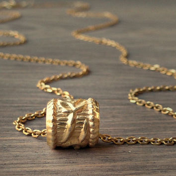 Gold dainty necklace, Gold bead necklace, Every day petite necklace, Gift for her.