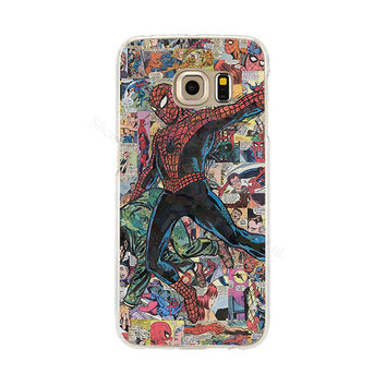 Spiderman Phone Back Cover Case for Samsung Galaxy S3 S4 S5 Mini S6 S7 Edge